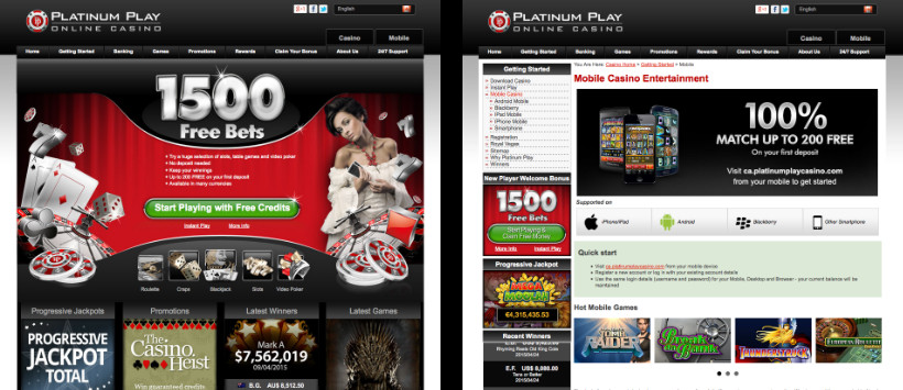 Platinum Play - Online Casino and Mobile