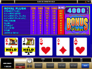 Bonus Poker Videopoker