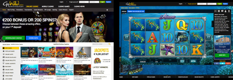 GoWild Online Casino and Slot Game